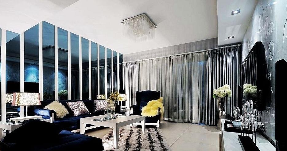 后现代风格小户型客厅装修效果图大全2015图片