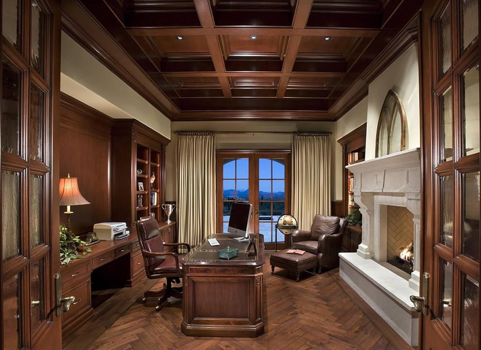 美式风格豪华书房装修设计图片 - 装修效果图 - 九正图片