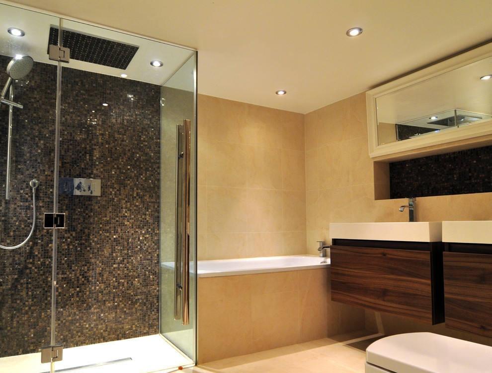 卫生间淋浴房马赛克拼图背景墙图片