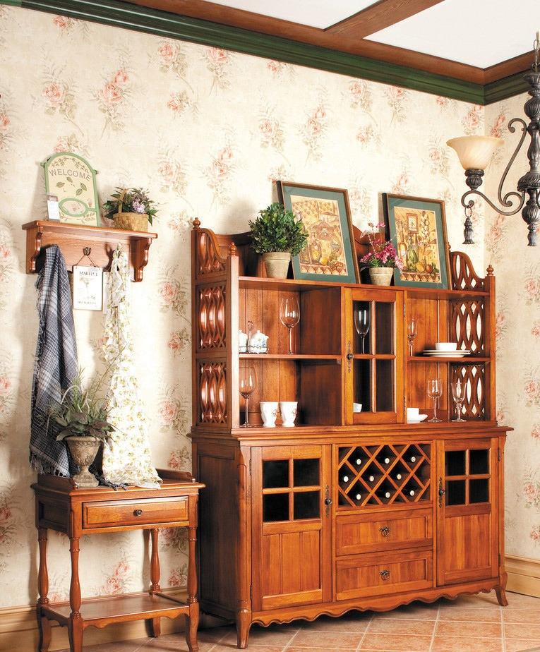 美式酒柜效果图图片