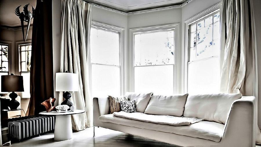 简欧风格家居大窗户客厅图片 - 装修效果图 - 九正图片