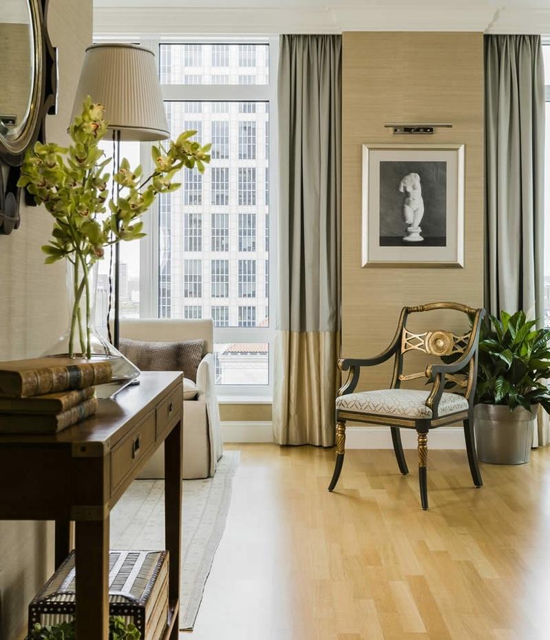 美式家居室内高窗窗帘图片欣赏