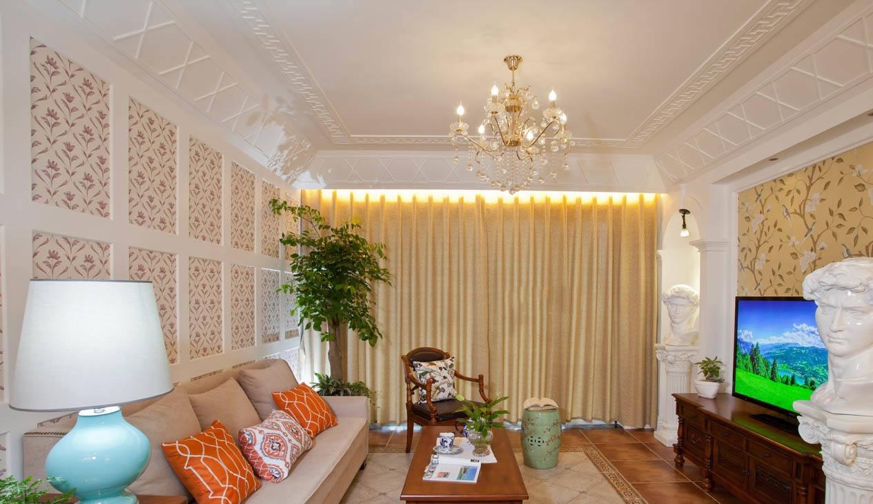 美式家庭设计室内客厅电视背景墙图片大全欣赏