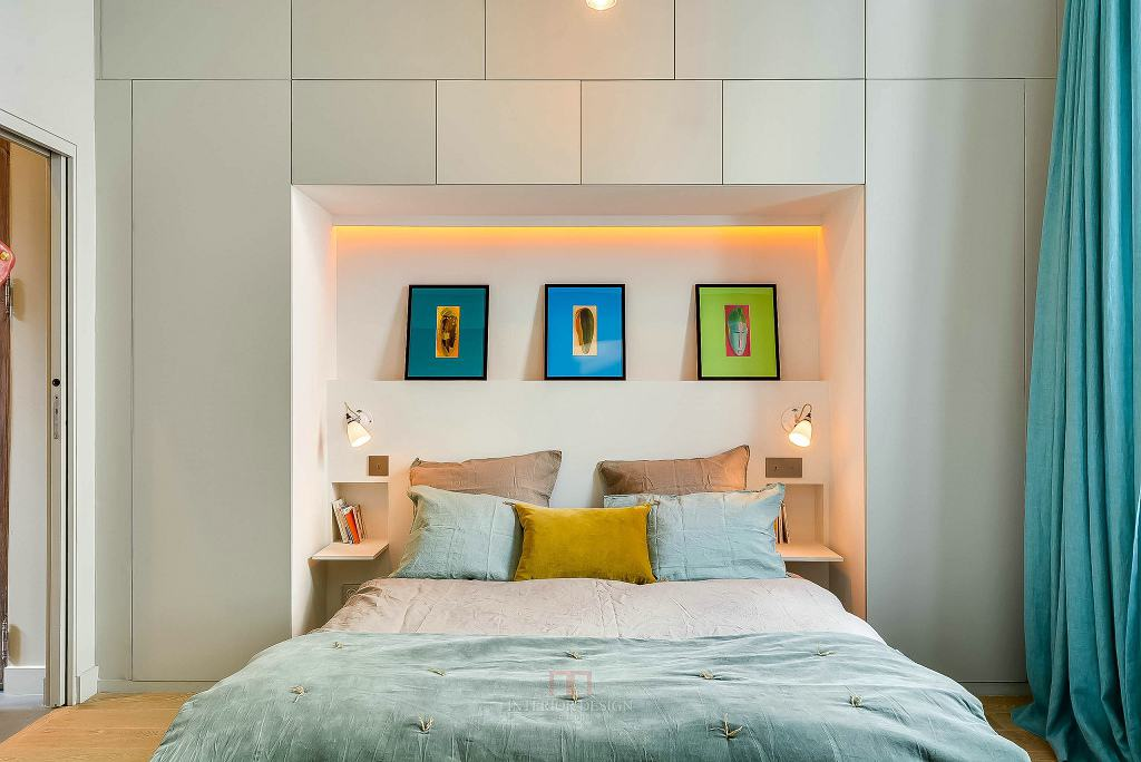 宜家设计卧室床头相片墙效果图