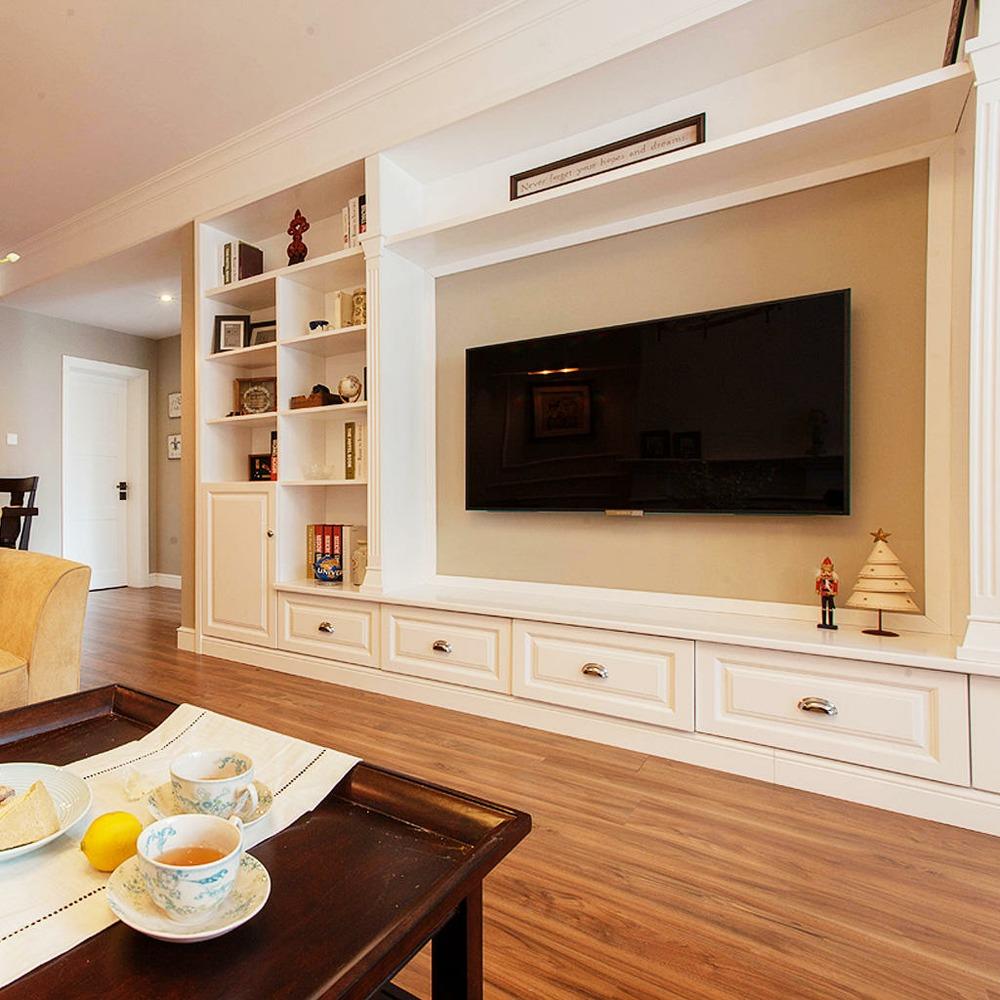 现代美式家装电视背景墙图片图片