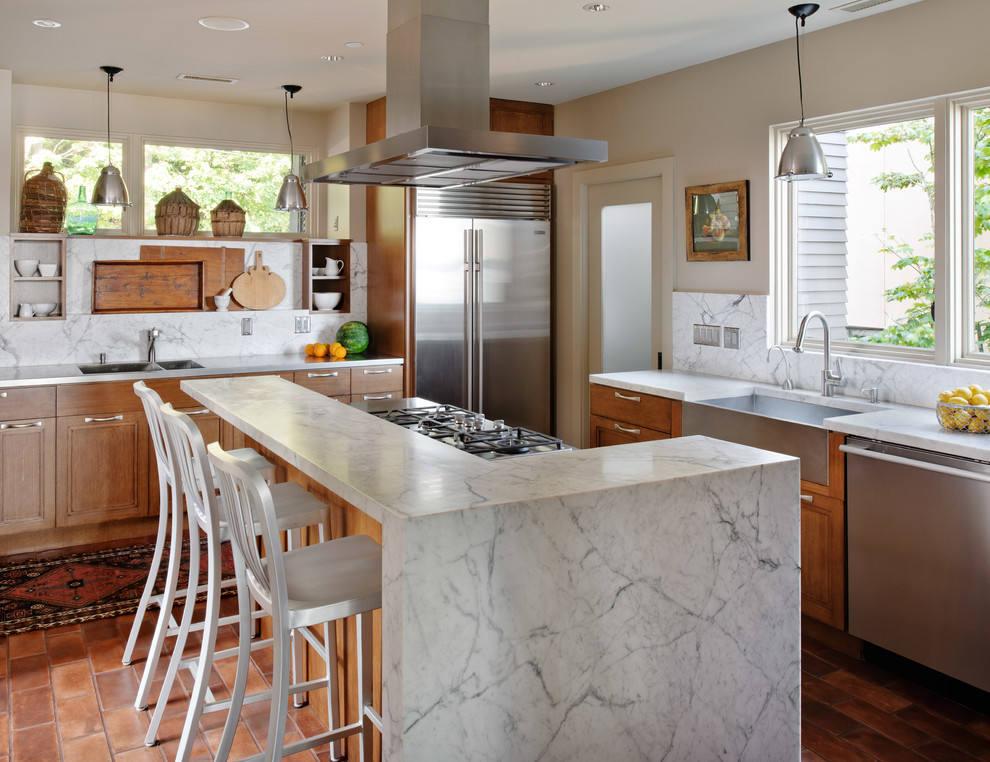 大理石材质厨房装修