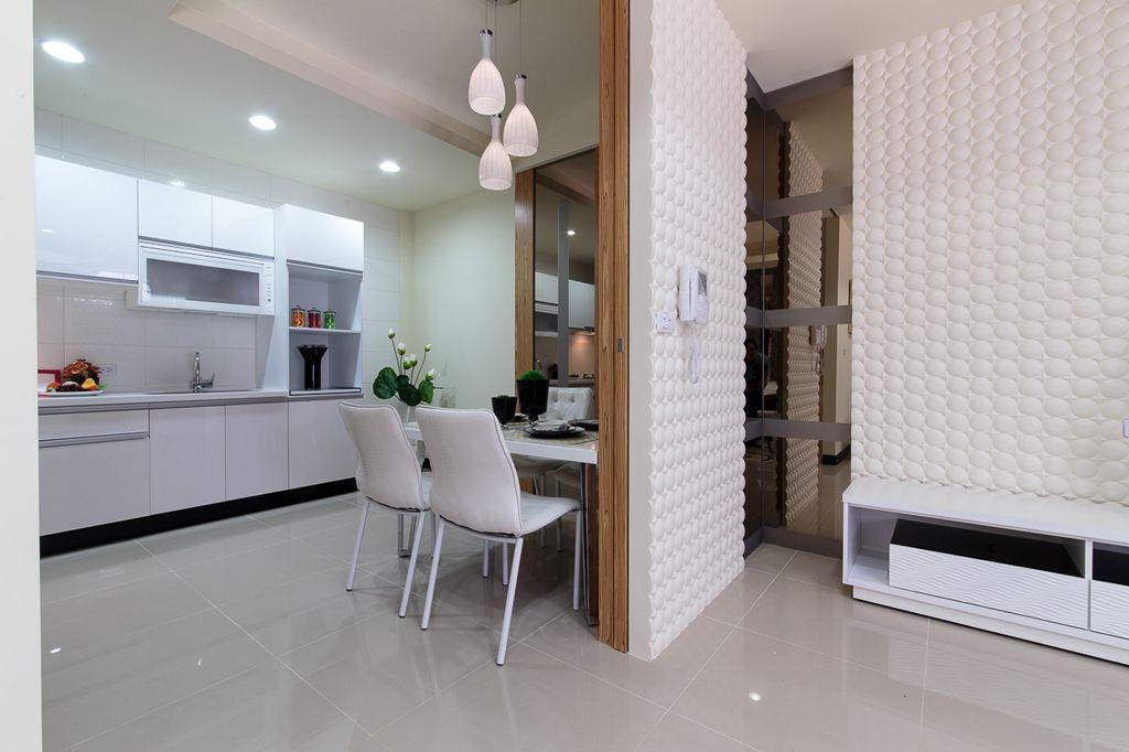 现代家装隔断设计效果图 - 九正家居装修效果图图片