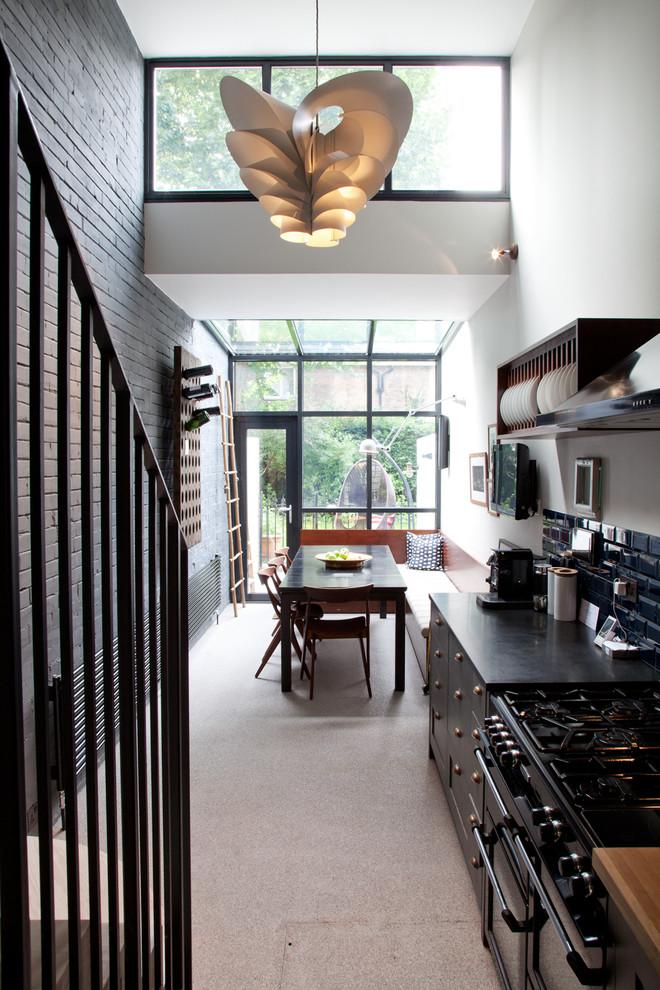 小户型复式楼装修效果图两室一厅欧式厨房餐厅装修效果图设计欣赏图片