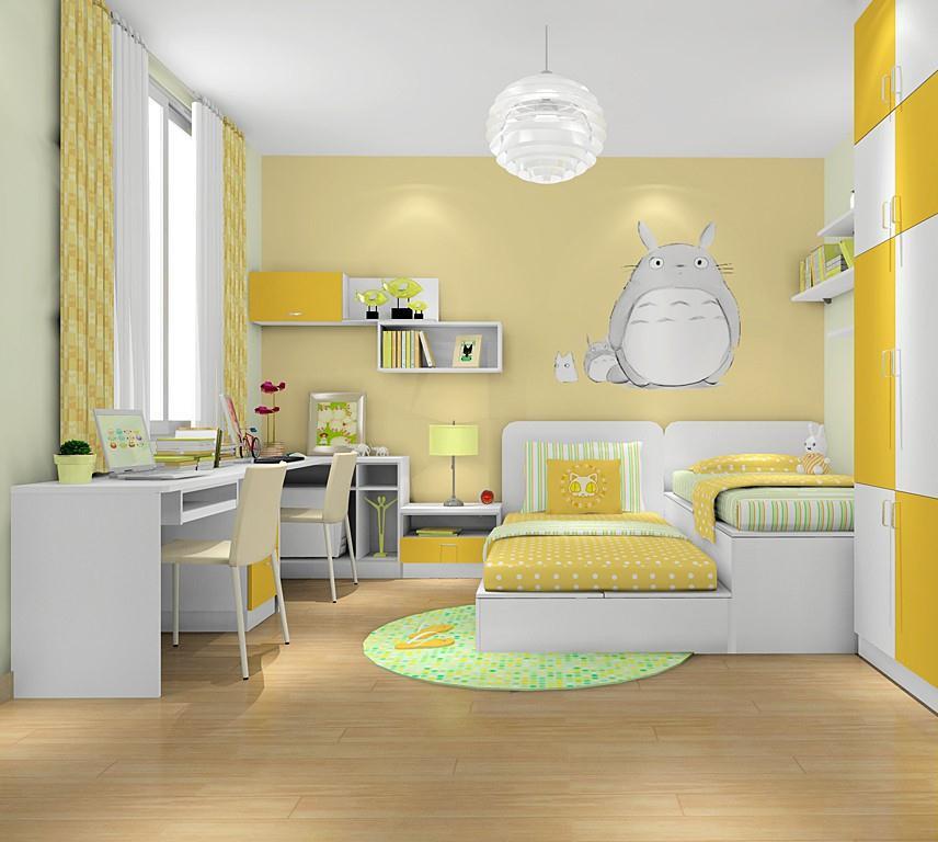 妈妈再也不用担心卧室不够啦三室两厅现代简约儿童房装修效果图设计