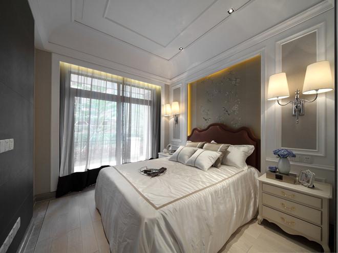 简欧风格洋房设计 营造欧式风情四室两厅欧式次卧装修效果图设计欣赏