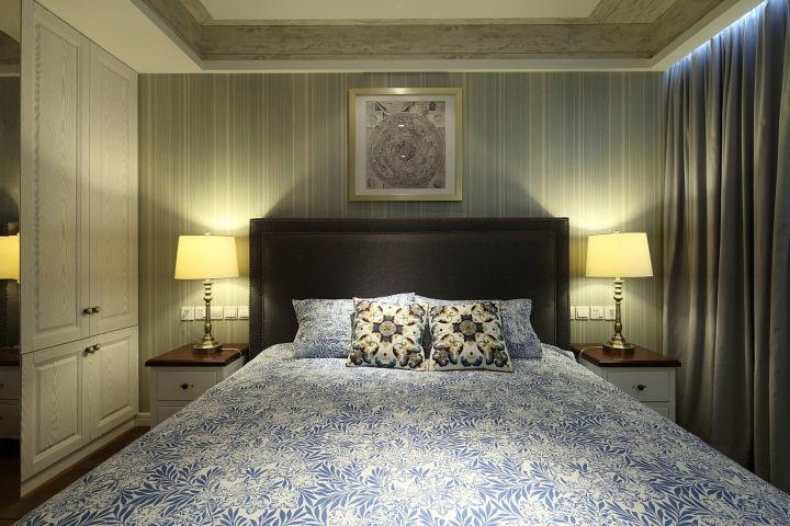 120平米 现代简约 三室三室两厅现代简约主卧装修效果图...