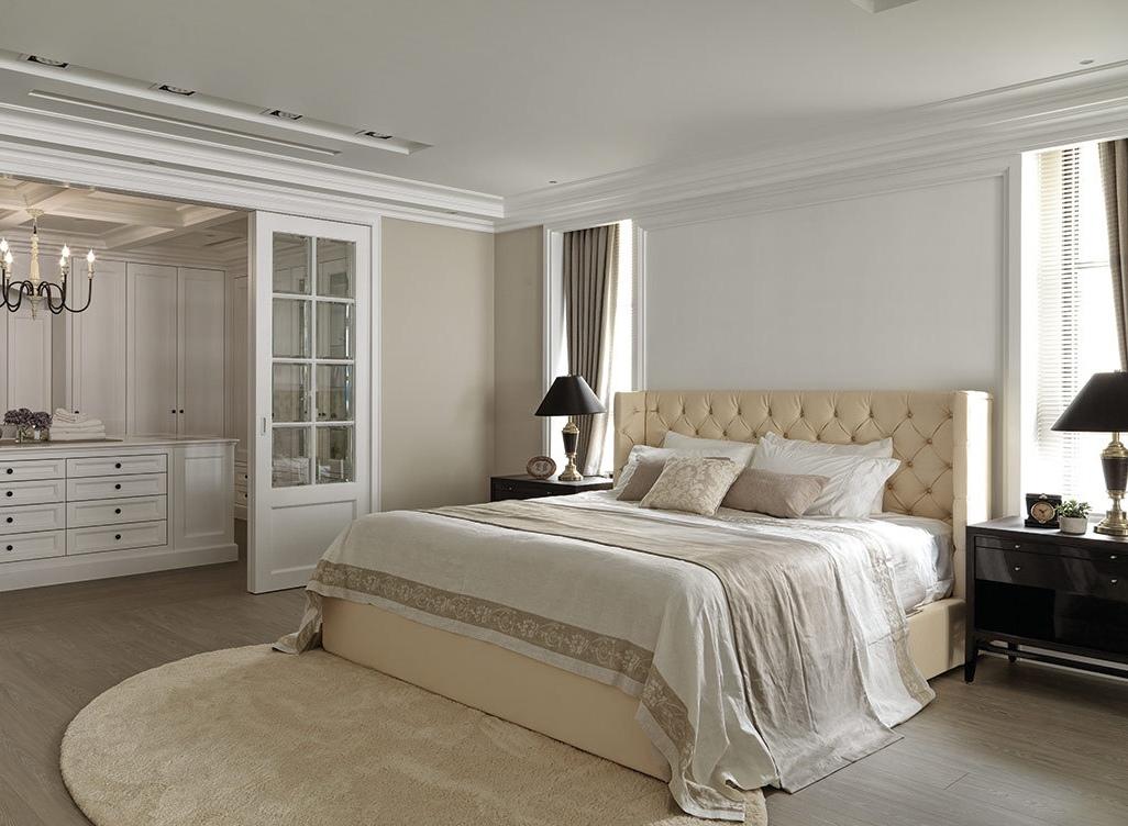 纯净优雅道地欧美生活场景两室两厅欧式主卧装修效果图设计欣赏图片