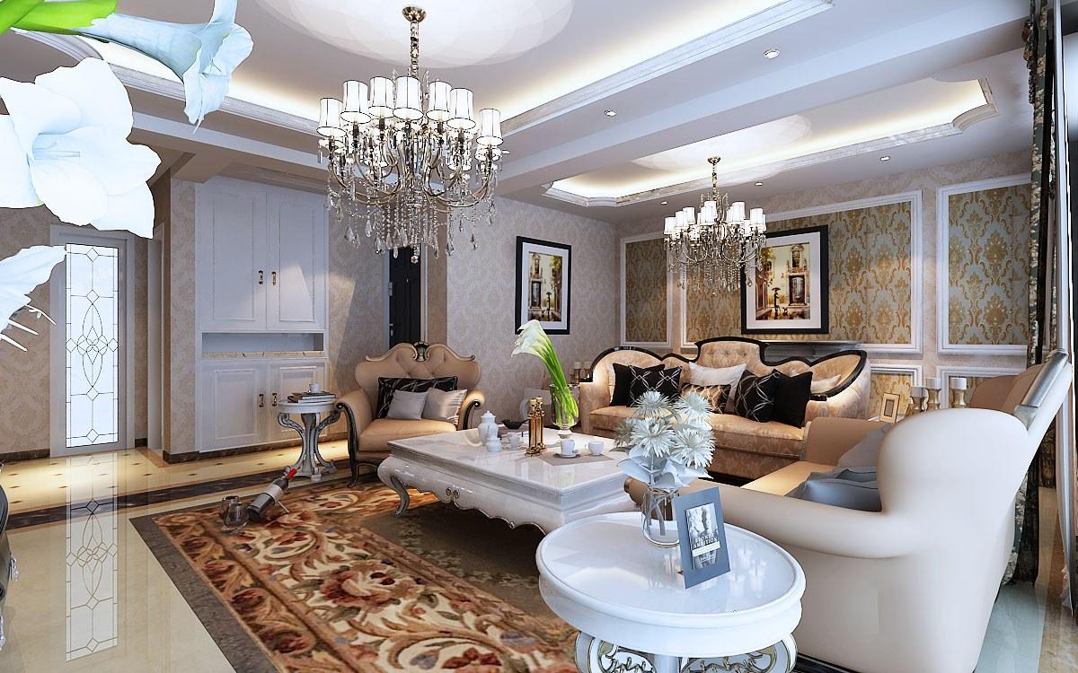 新安花园复式结构欧式风格loft欧式客厅装修效果图设计欣赏
