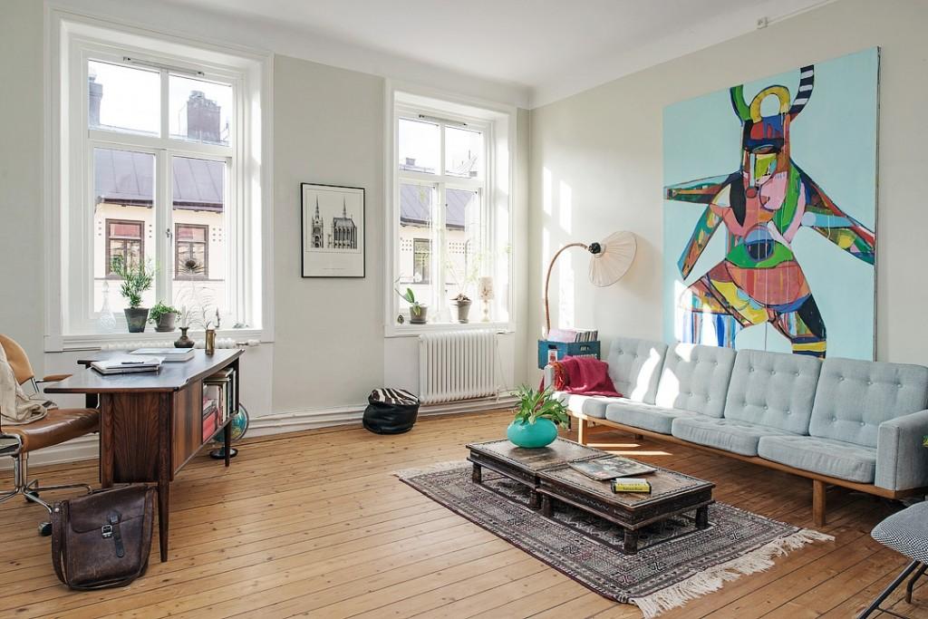 混搭北欧风格小户型家装效果图