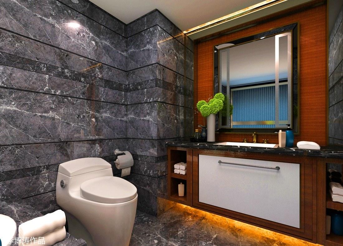 现代酒店套房卫生间家具设计图