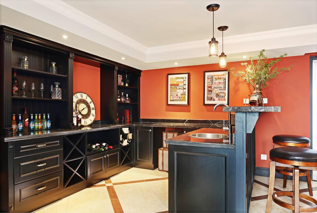 美式极简酒柜设计效果图图片