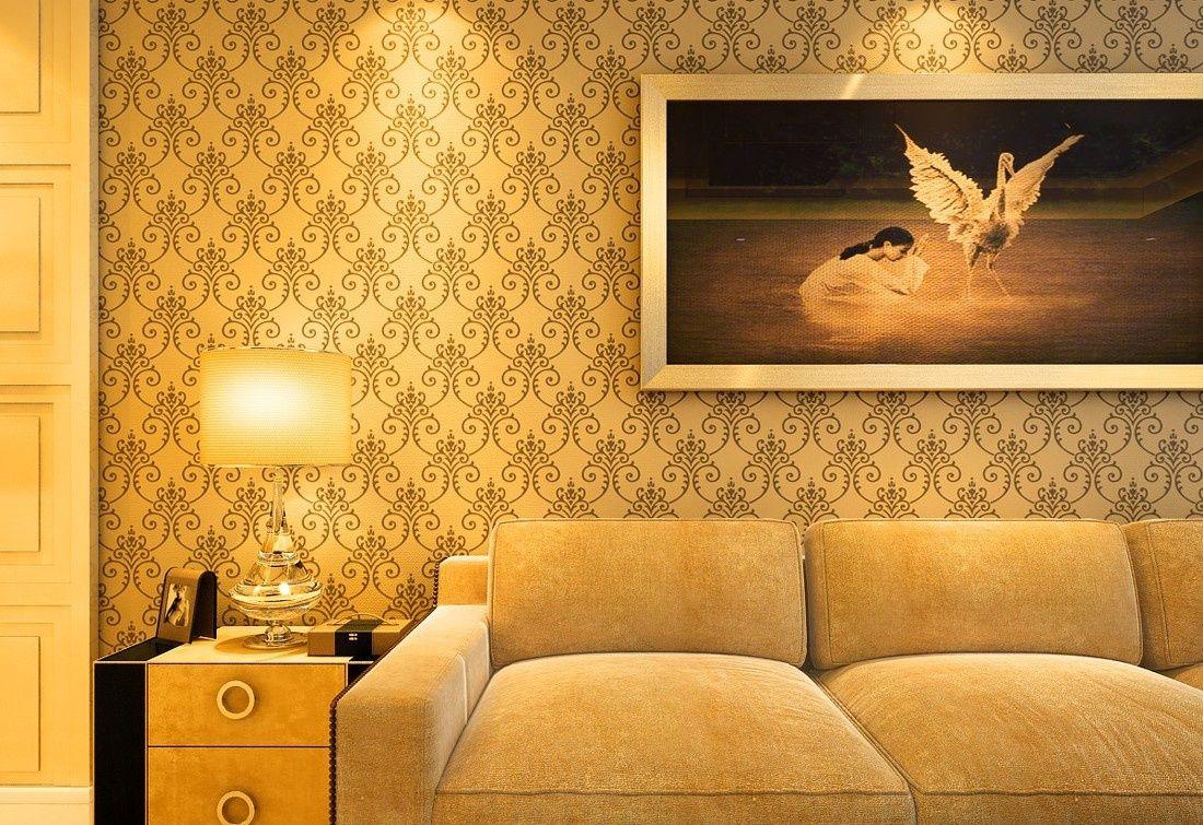 新中式风格沙发背景墙装修效果图图片