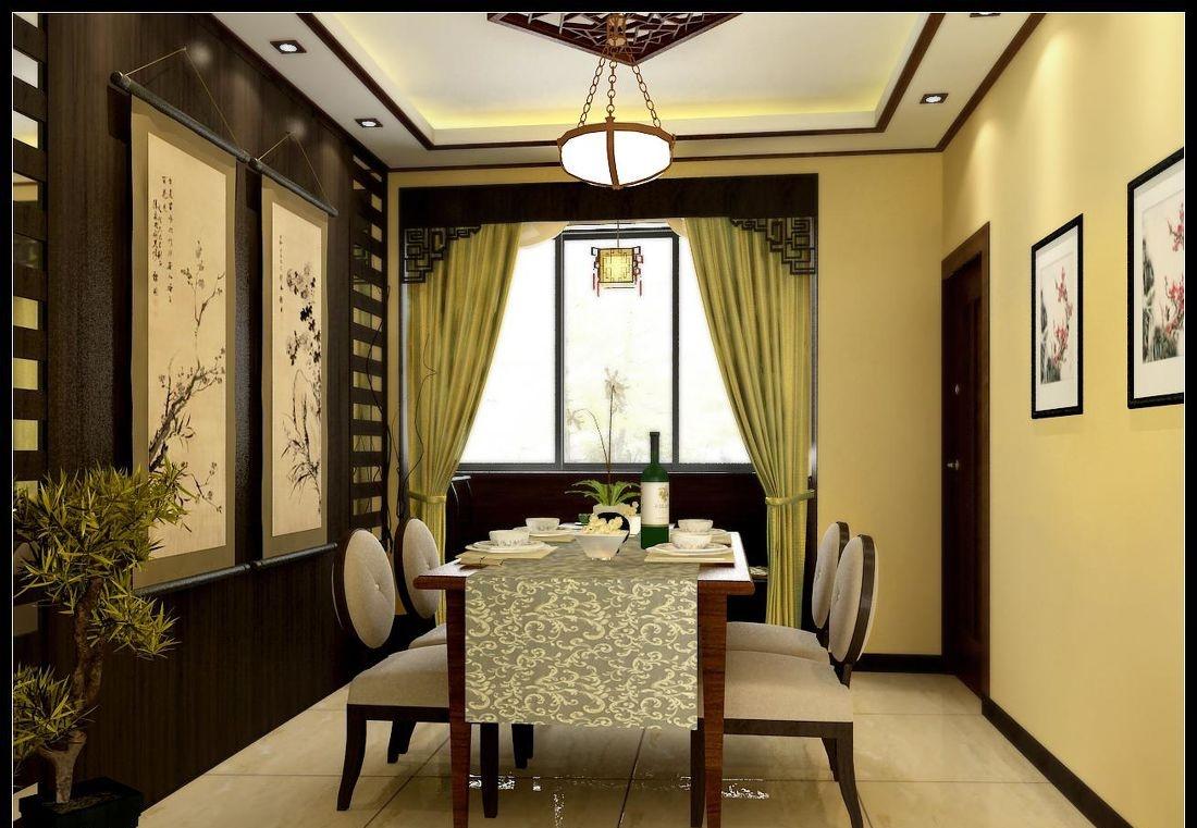 中式古风餐厅设计效果图