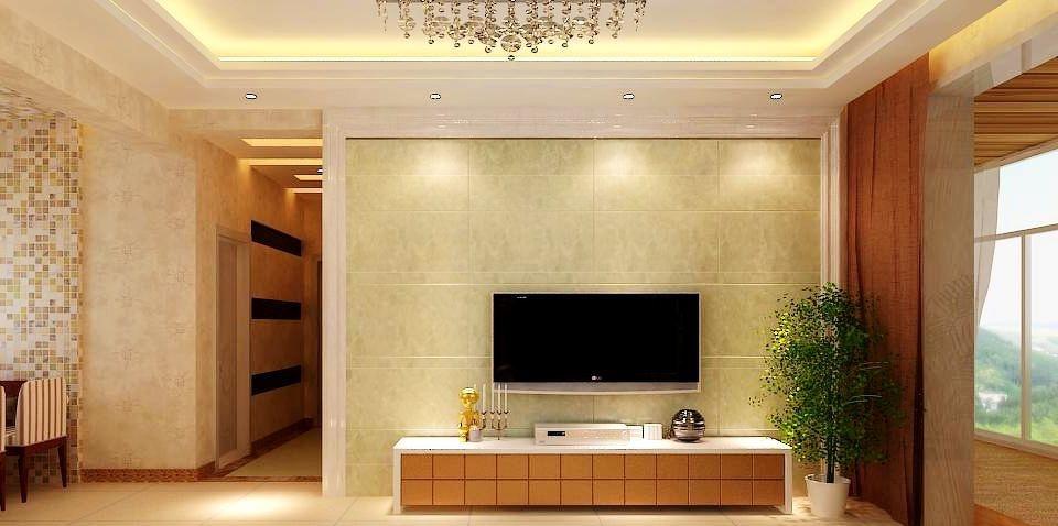 简欧风格电视背景墙设计效果图图片