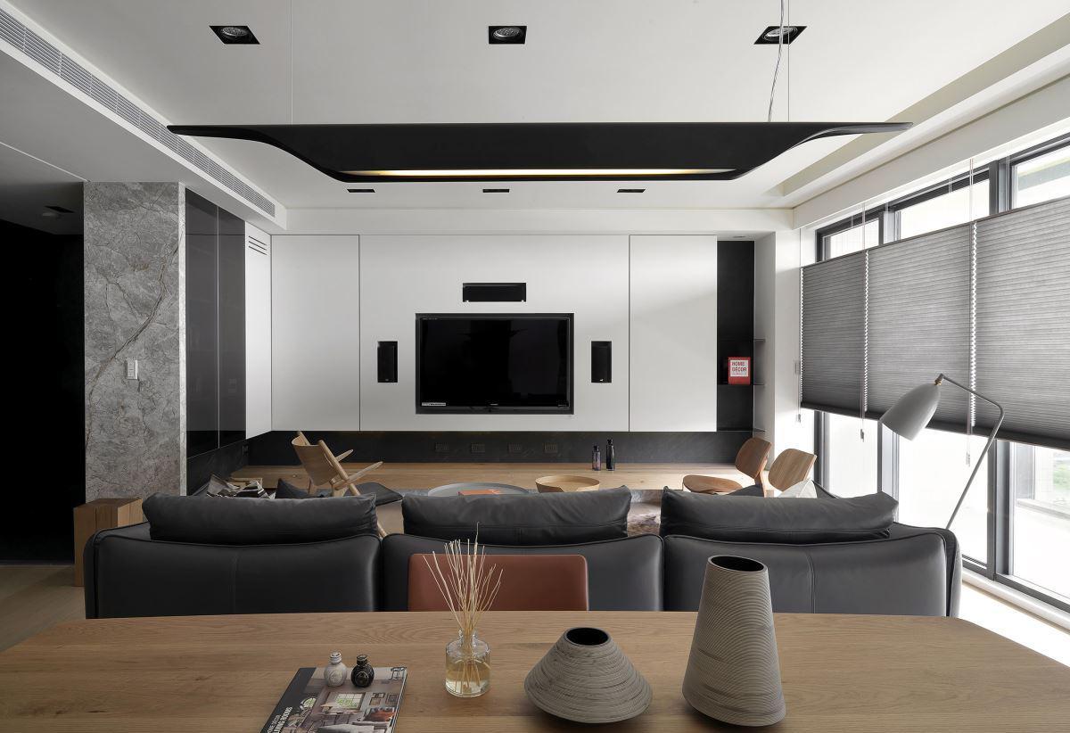 北欧风格设计客厅电视柜家装效果图图片