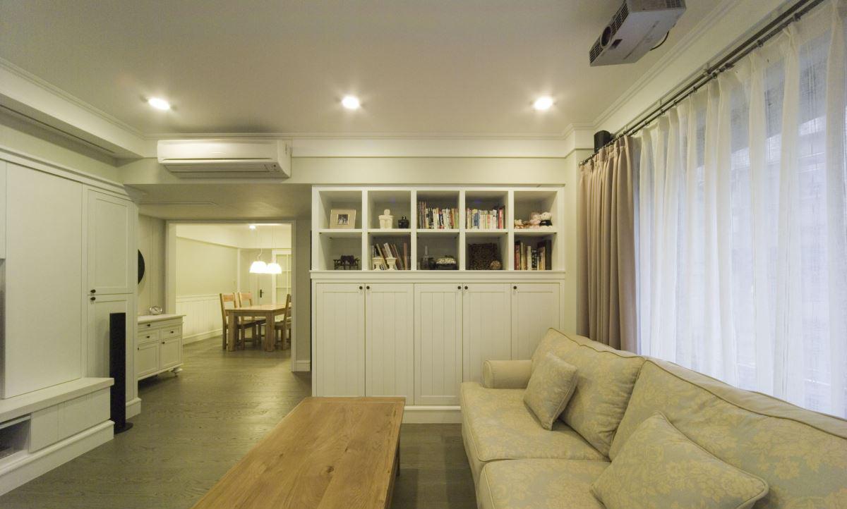 美式轻奢华理念设计客厅书柜家装效果图图片