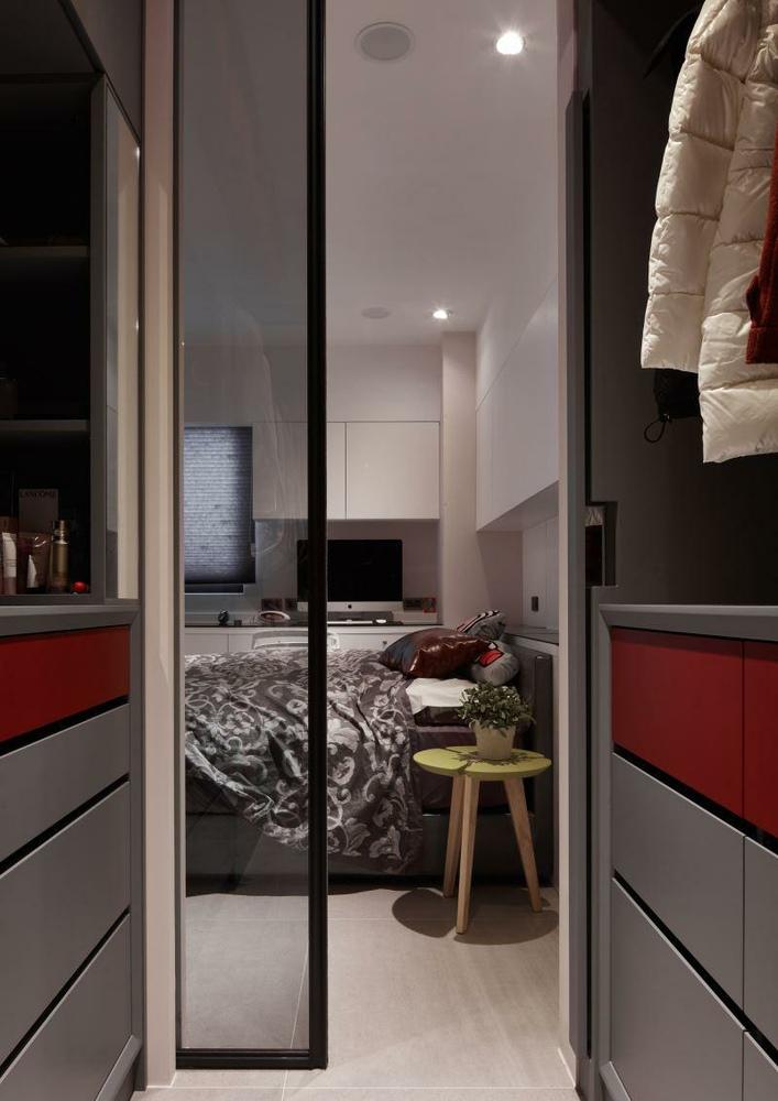 北欧风格卧室衣帽间设计图片