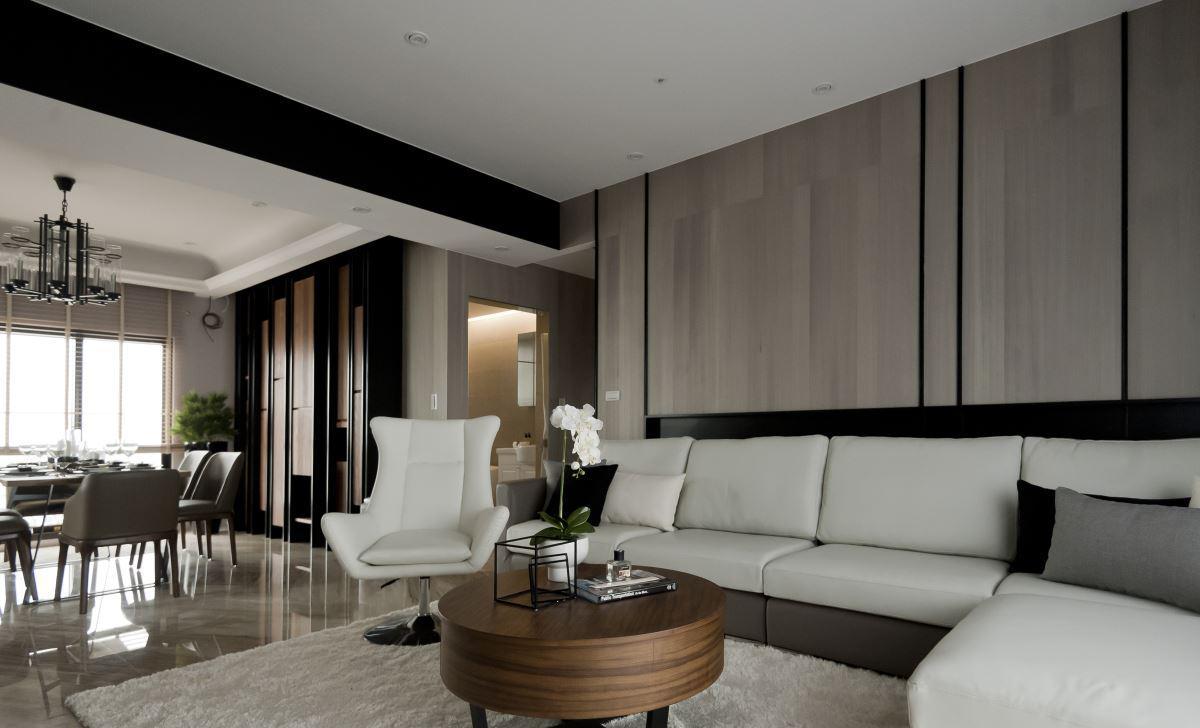 中式风格客厅三居室家装效果图 - 九正家居装修效果图图片