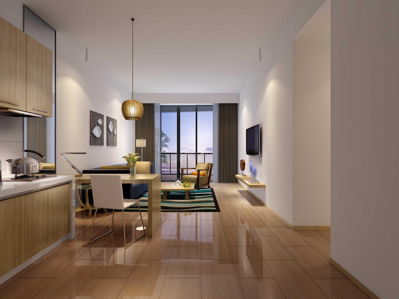 60平米单身公寓客厅效果图装修效果图九正家居网