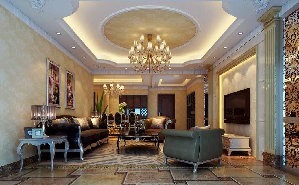现代欧式客厅吊顶图片图片
