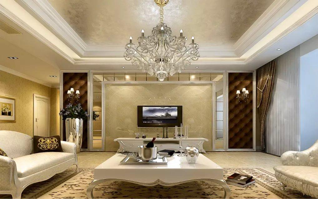 现代欧式客厅电视背景墙设计