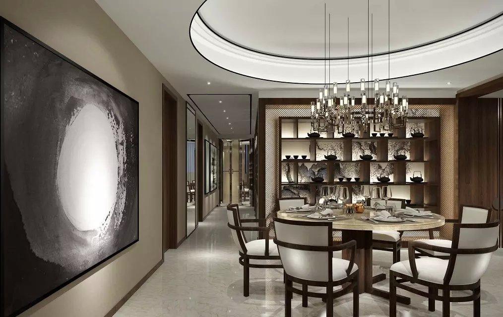 新中式风格三居室餐厅吊顶设计图片