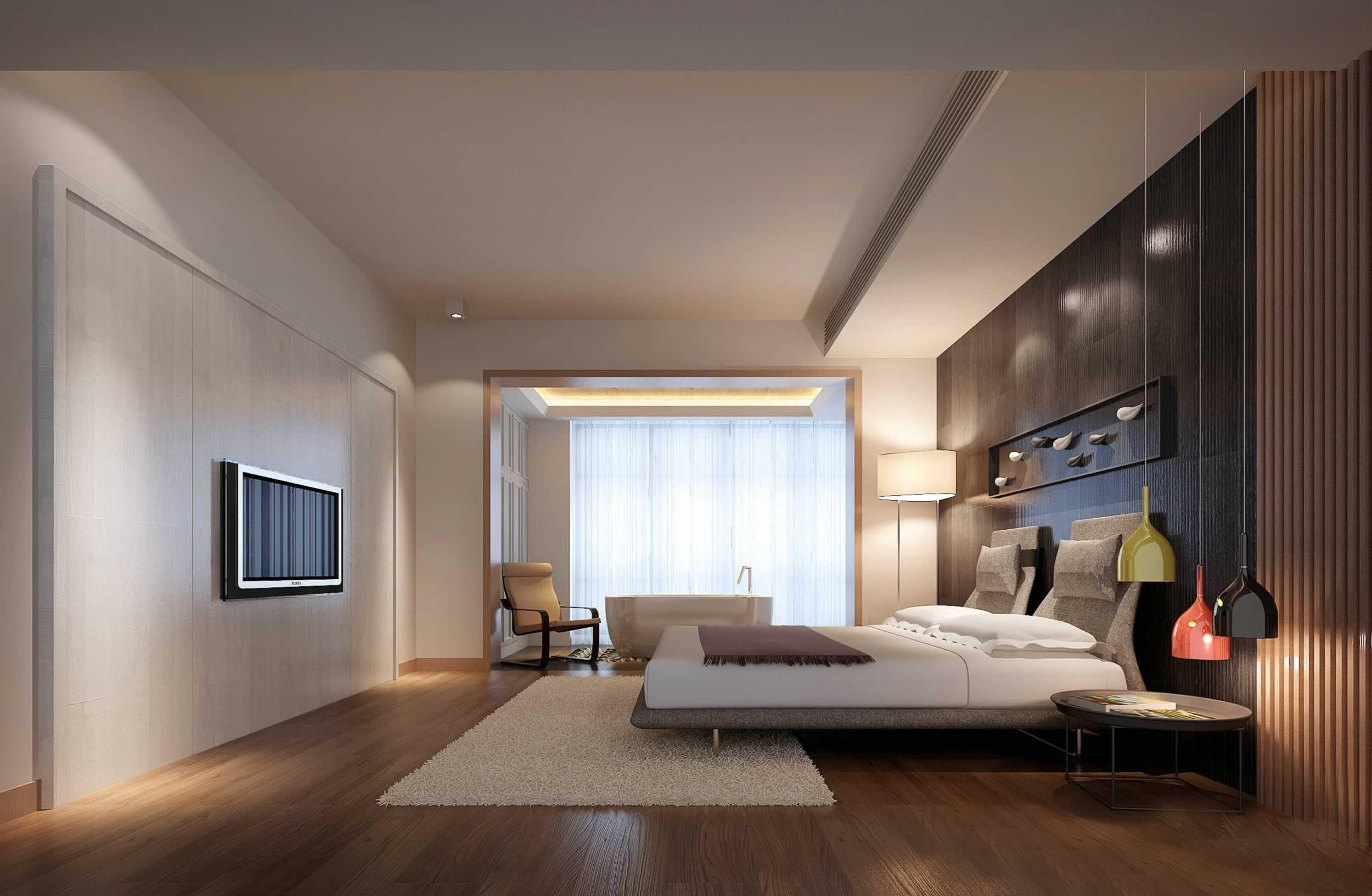 极简主义风格家居卧室背景墙效果图九正家居装修
