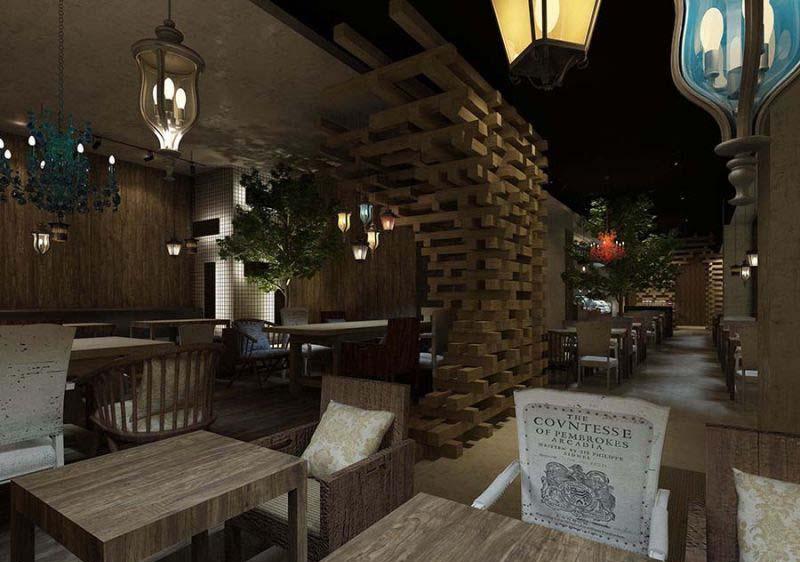 座位 咖啡店室内装修效果图