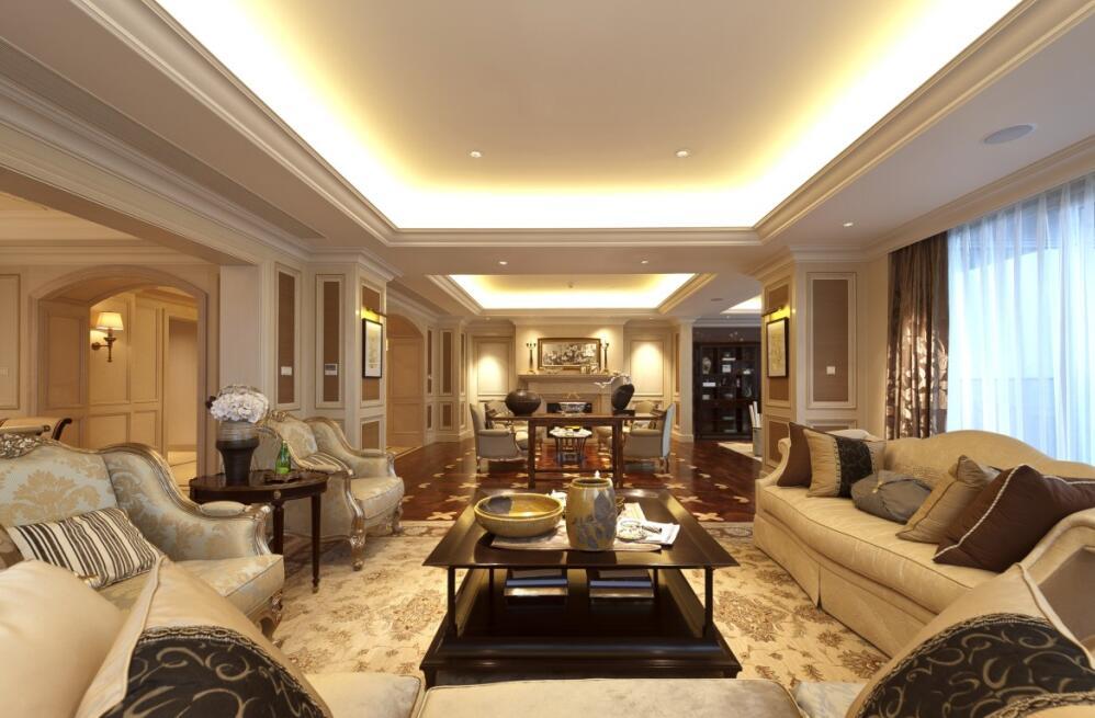 120平米简欧风格装修客厅效果图图片