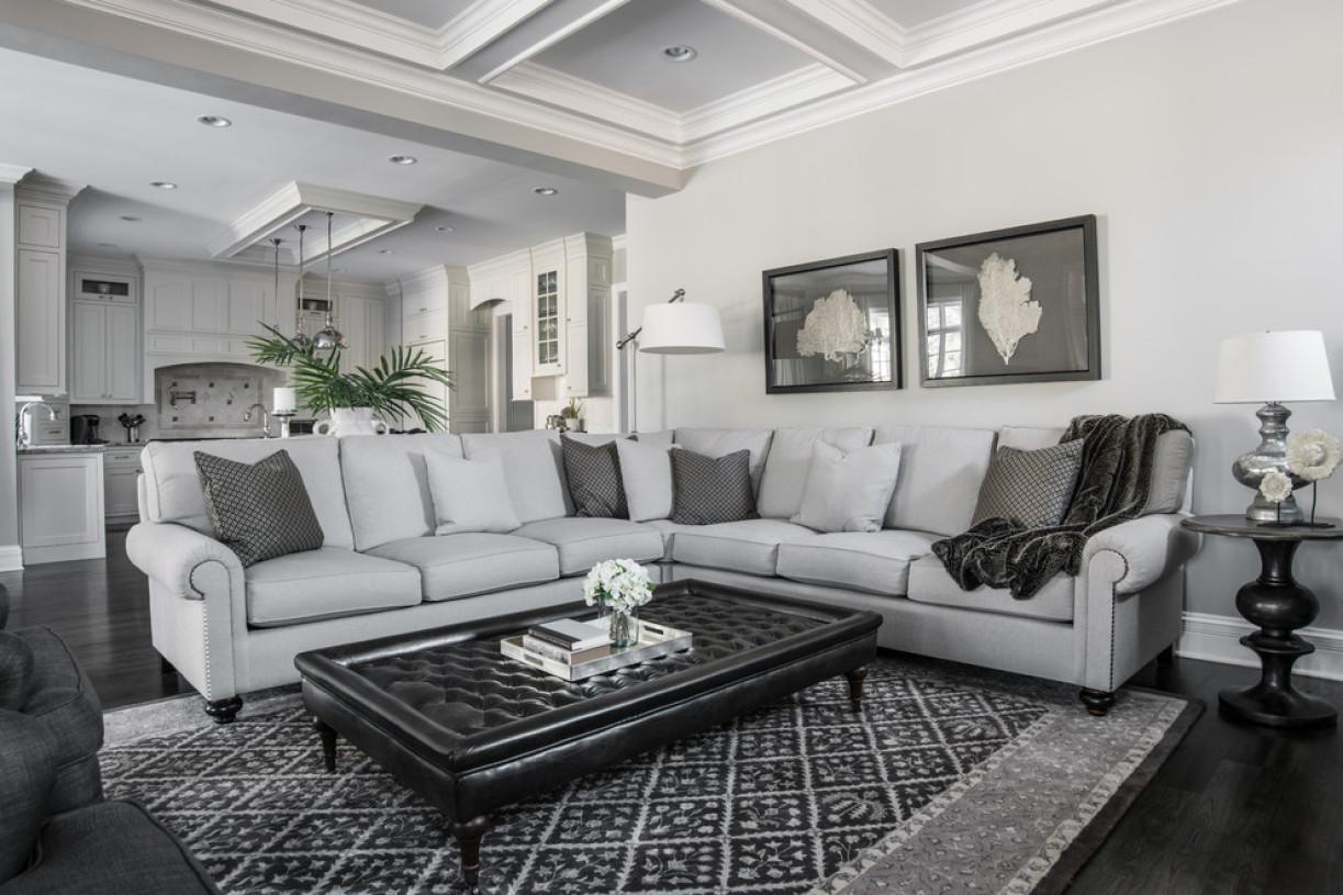 灰色欧式风格客厅装修图片