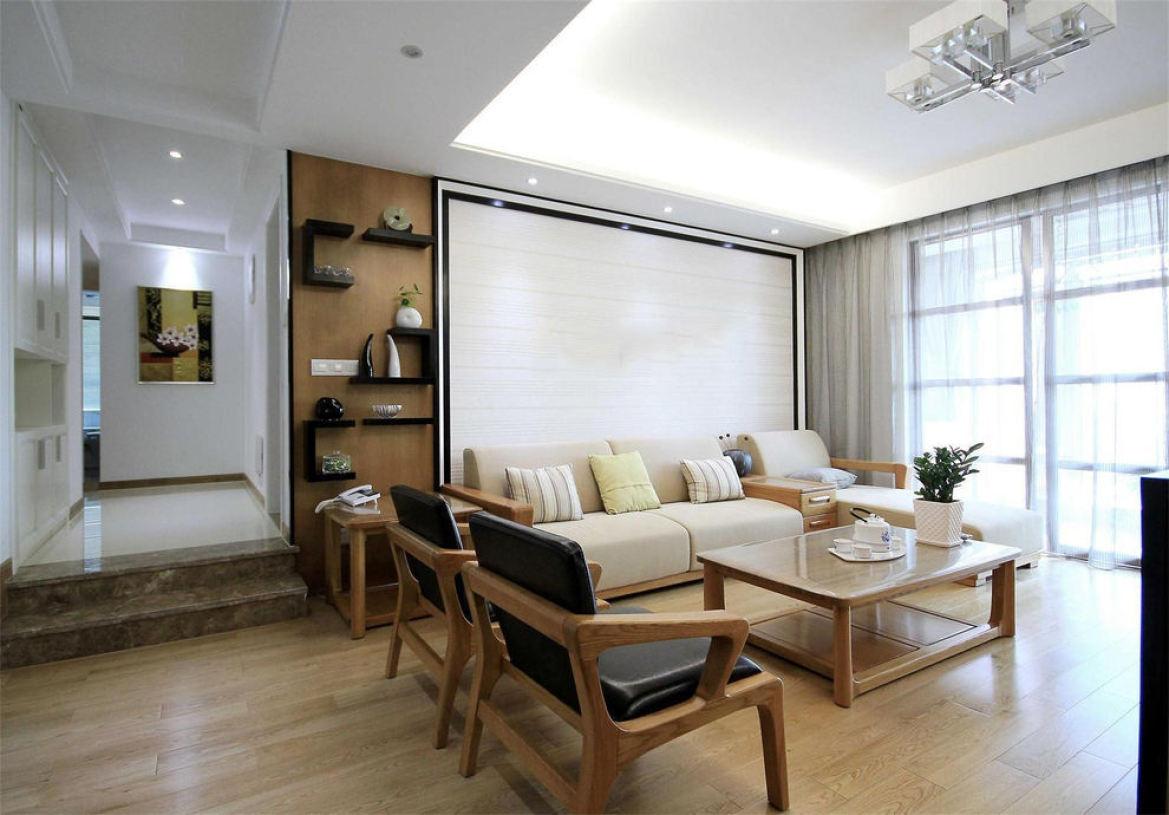 素雅无印良品简约风格客厅设计图