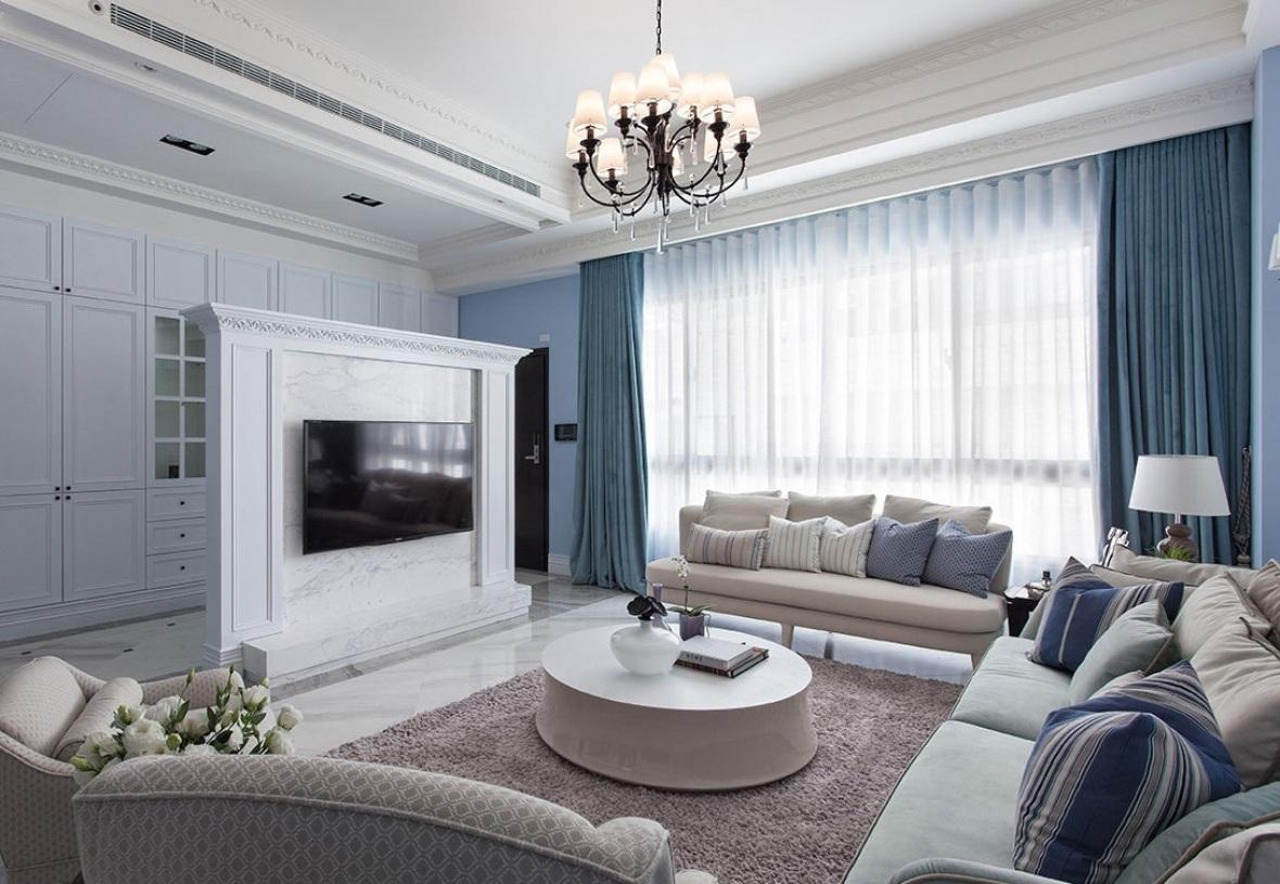灰色欧式客厅吊顶效果图 - 九正家居装修效果图图片