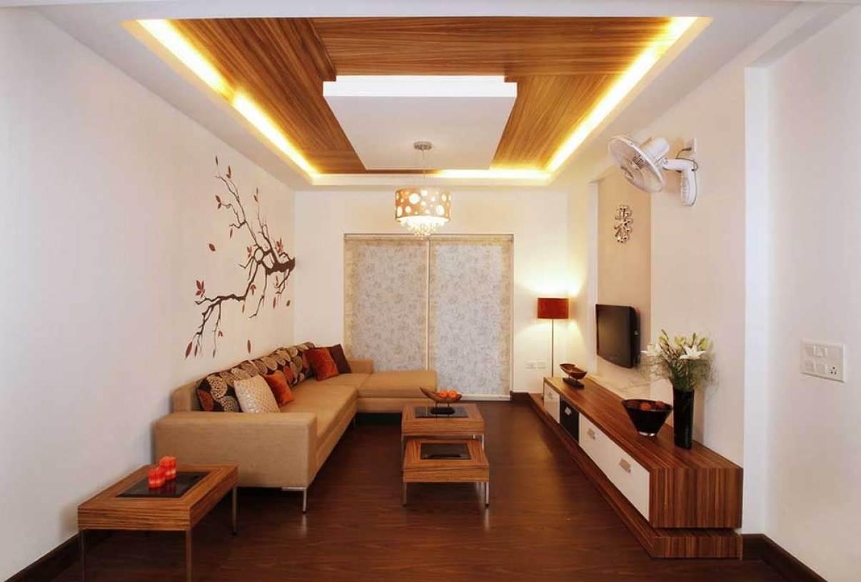 古朴中式元素客厅装潢设计案例 - 九正家居装修效果图