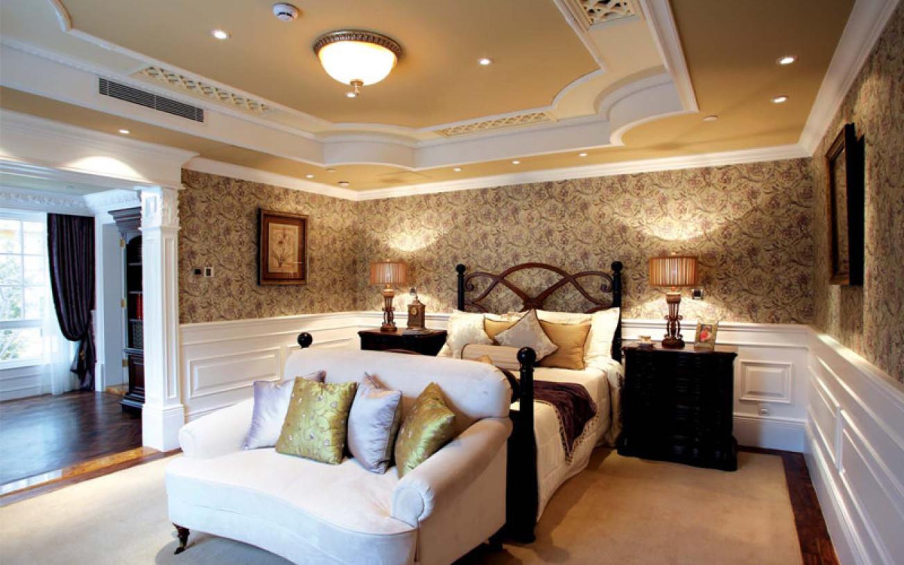 时尚欧式卧室吊顶效果图 - 九正家居装修效果图图片