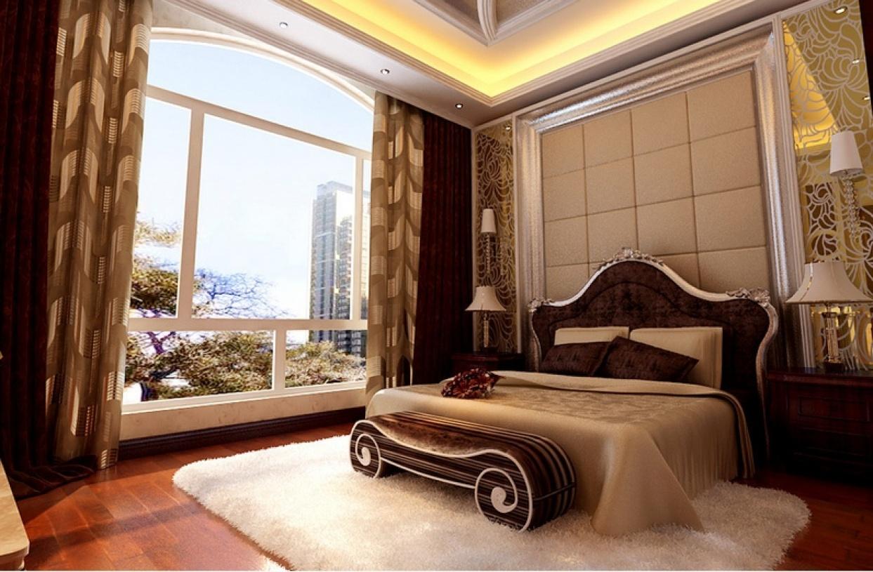 温馨精致欧式卧室装潢设计图片