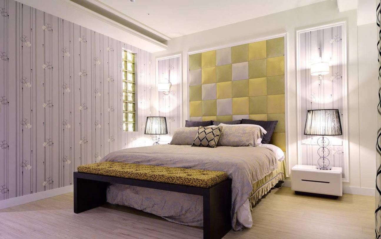 紫色浪漫简约女生卧室装潢 - 九正家居装修效果图