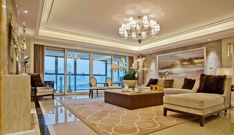 欧式风格客厅吊顶装修设计 - 九正家居装修效果图图片