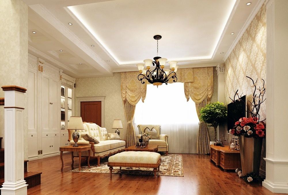 欧式大客厅吊顶设计效果图 - 九正家居装修效果图图片