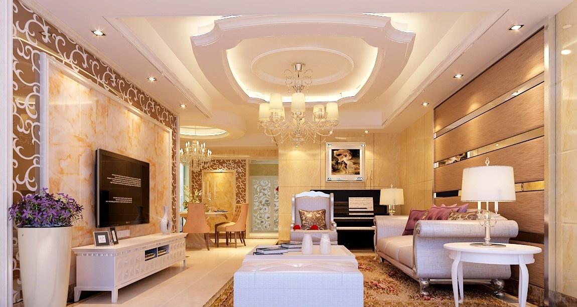 欧式客厅吊顶造型设计图片图片