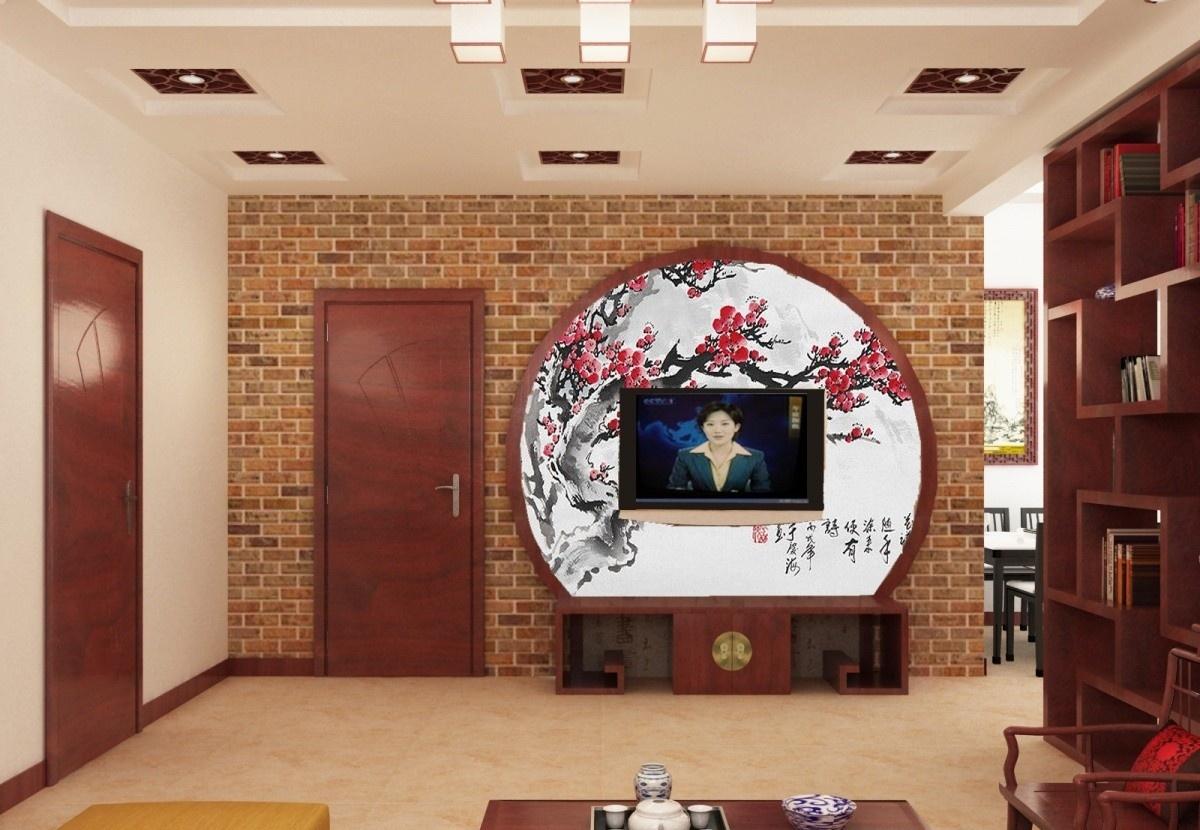 中式客厅电视背景墙装修效果图大全2015图片图片
