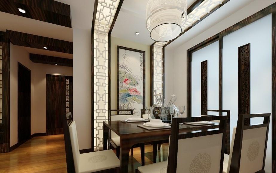 新中式餐厅吊顶效果图图片
