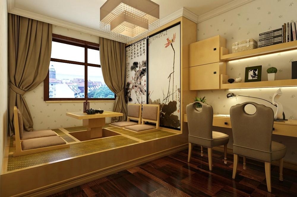 维多利亚138平米现代简约风格三室两厅欧式书房装修图片