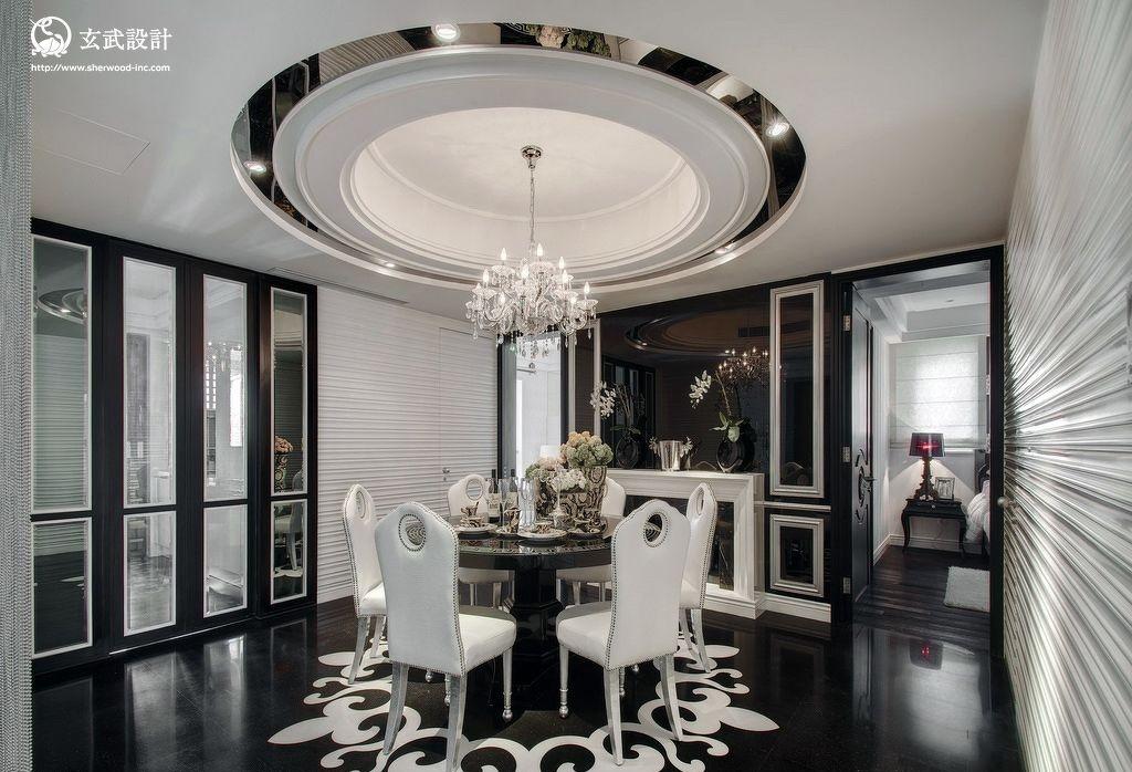 家装餐厅圆形吊顶装修效果图