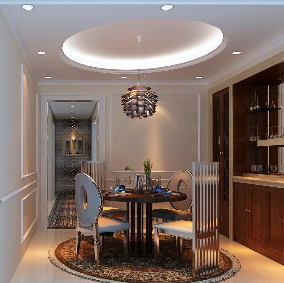 餐厅圆形吊顶图片 - 九正家居装修效果图图片