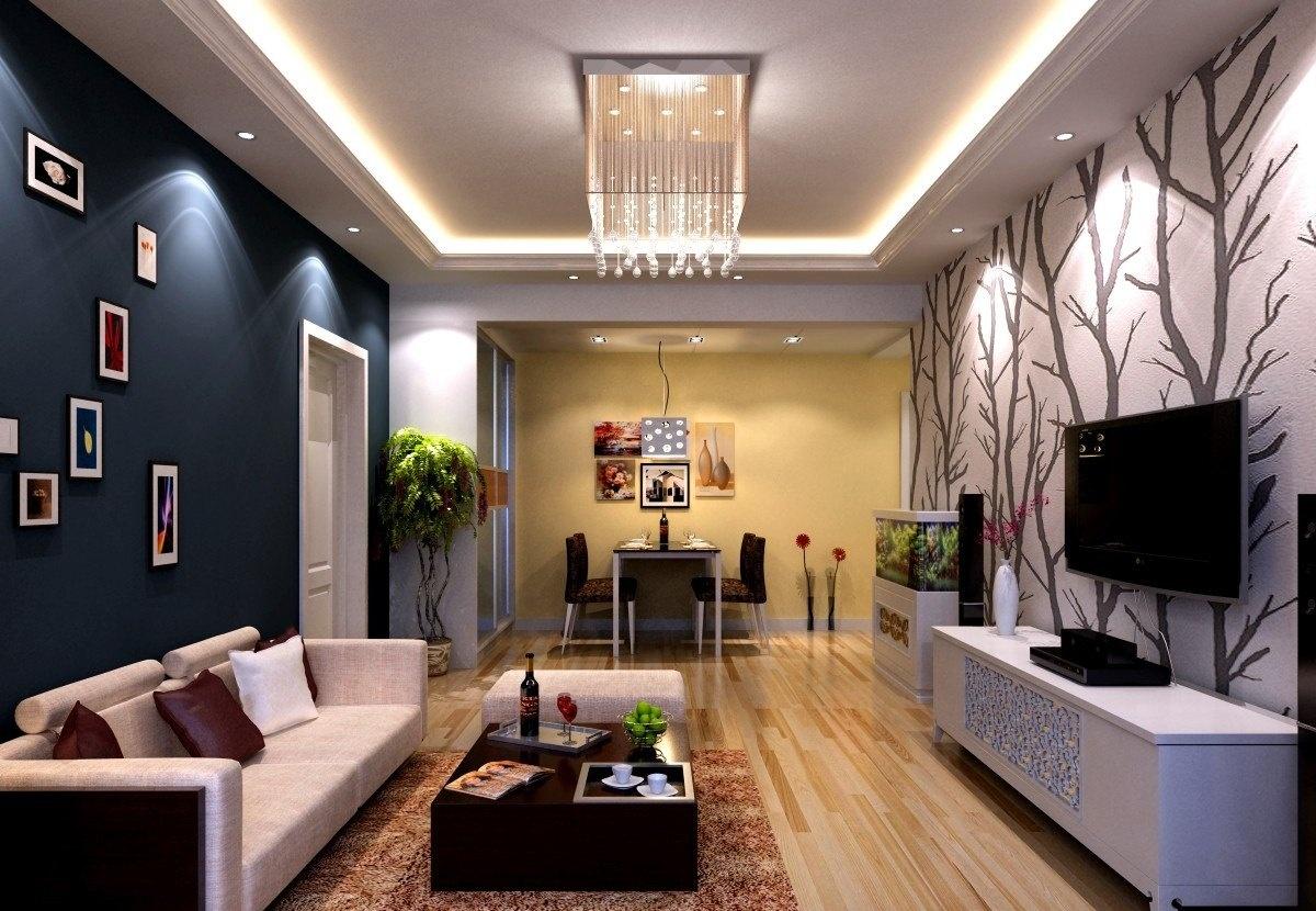 装修效果图 > 小户型客厅吊顶装修 从简约风格中找窍门